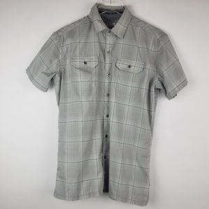 Men's Kuhl short sleeve button down plaid S